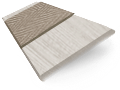 Grey Wash & Latte Faux Wood Blind - 50mm Slat slat image
