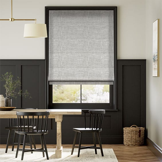Harlow Woven Grey Roman Blind
