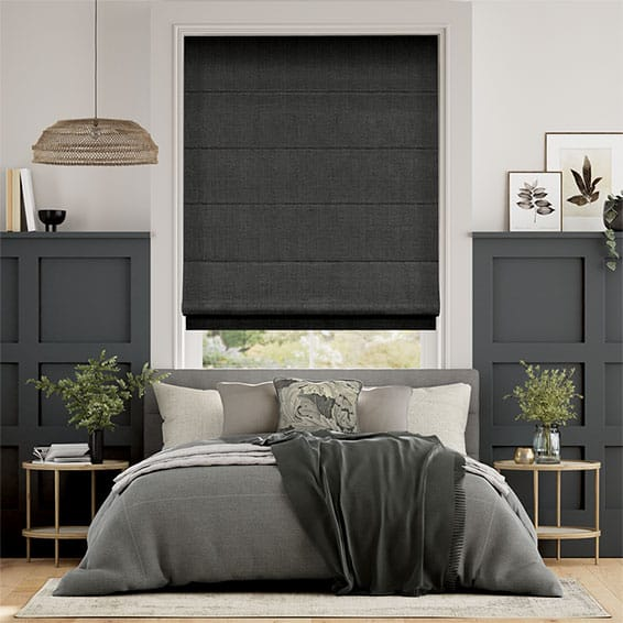 Harrow Charcoal Roman Blind