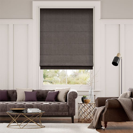 Harrow Grey Taupe Roman Blind