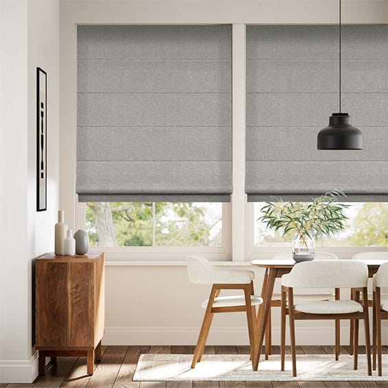 Harrow Mid Grey Roman Blind