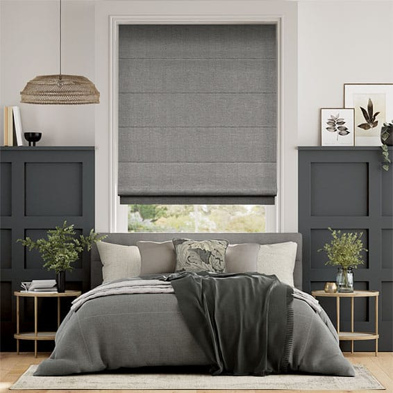 Harrow Tonal Grey Roman Blind