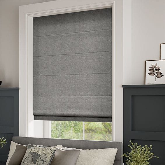 Grey Roman Blinds Range Stunning Grey Amp Silver Shaded Blinds