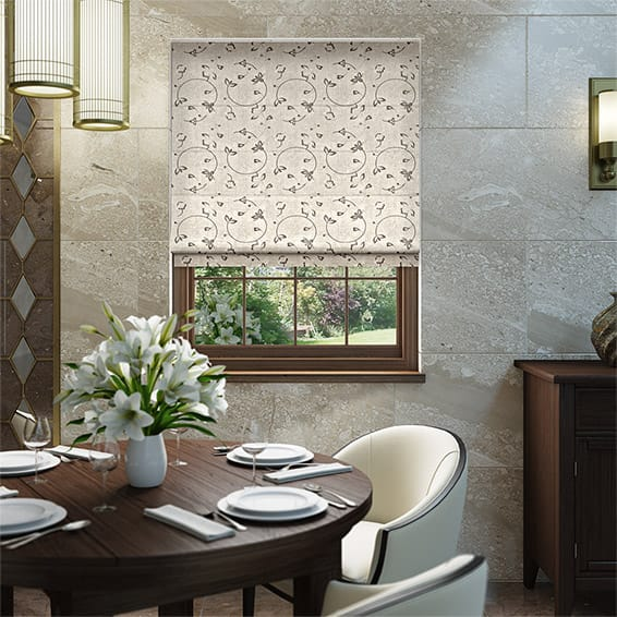 Hollydale Latte Roman Blind