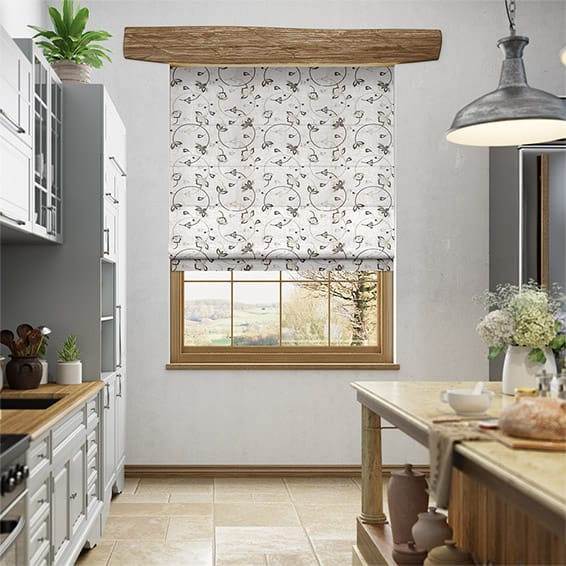 Hollydale Silver Roman Blind
