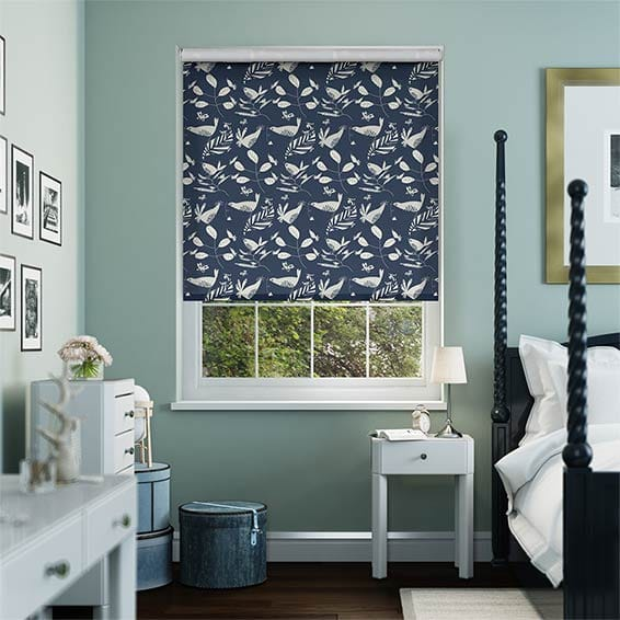 Hygge Birds Jay Blue Roller Blind