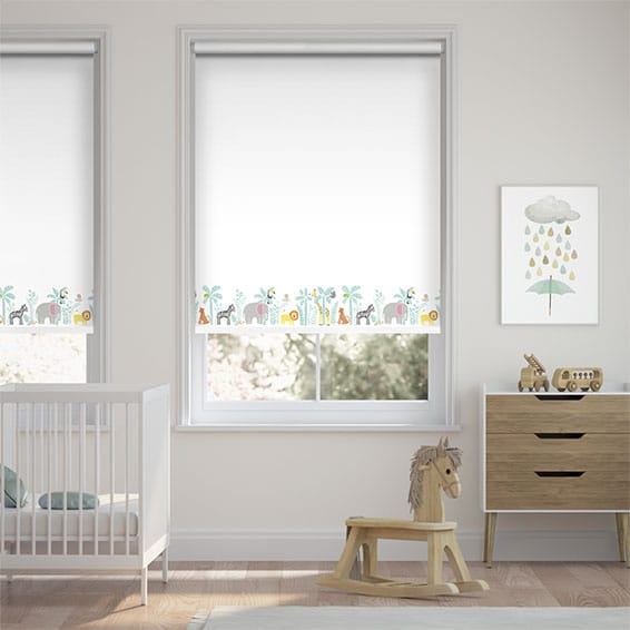 Jolly Jungle Blackout Chalk Roller Blind