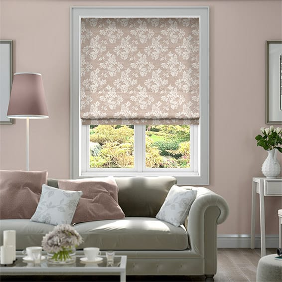 Josephine Dusty Rose Roman Blind