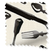 Knives and Forks Black Roller Blind slat image