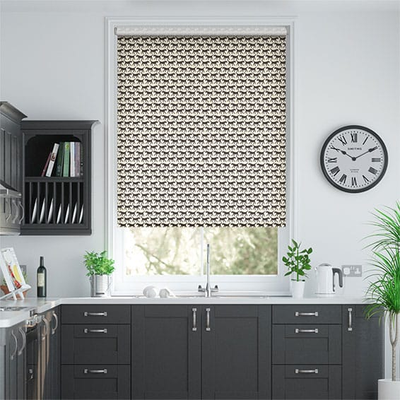 Labradors Charcoal Roller Blind