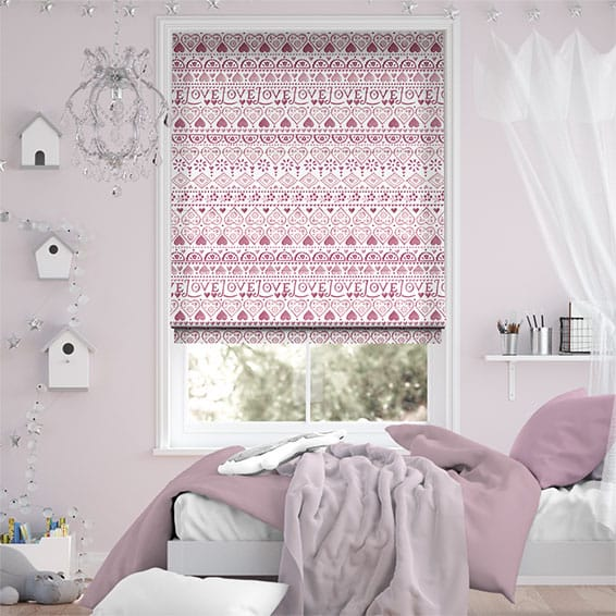 Large Sampler Pink Roman Blind