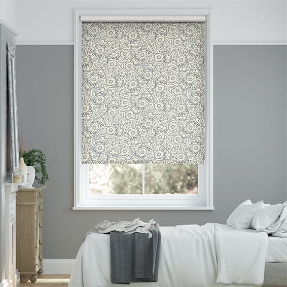 Garden Flowers Grey Roller Blind
