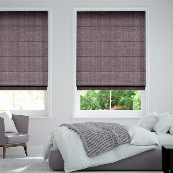 Leyton Royal Purple Roman Blind