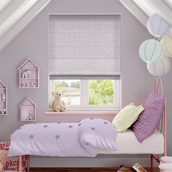 Liliana Dusty Lavender Roman Blind