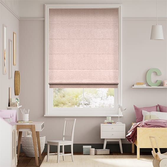 Liliana Soft Pink Roman Blind