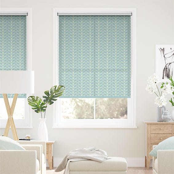 Linear Stem Duck Egg Roller Blind