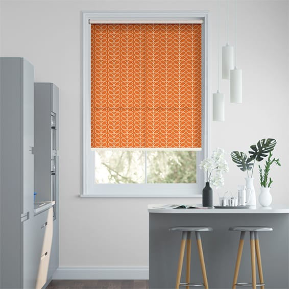 Linear Stem Papaya  Roller Blind