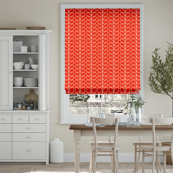 Linear Stem Tomato Roman Blind
