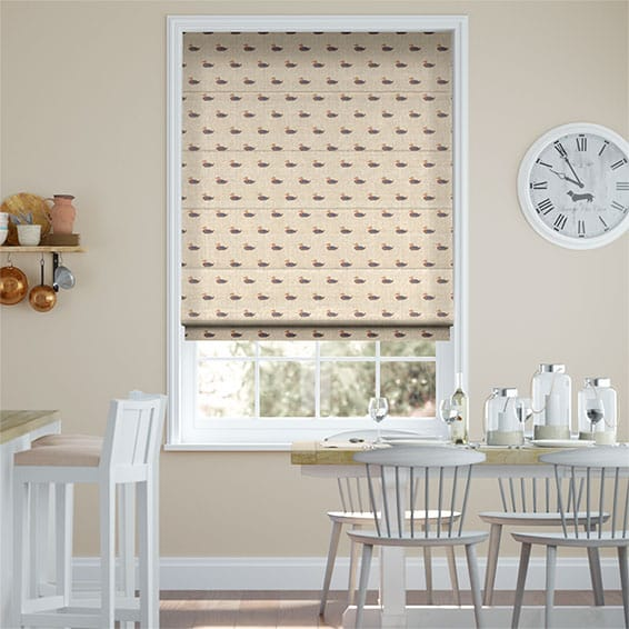 Little Ducks Roman Blind