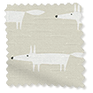 Little Mr Fox Linen Roman Blind slat image