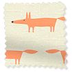 Little Mr Fox Orange Roman Blind slat image