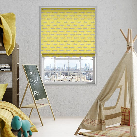 Little Mr Fox Sunflower Roman Blind