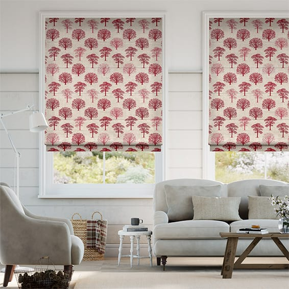 Little Orchard Scarlet Roman Blind