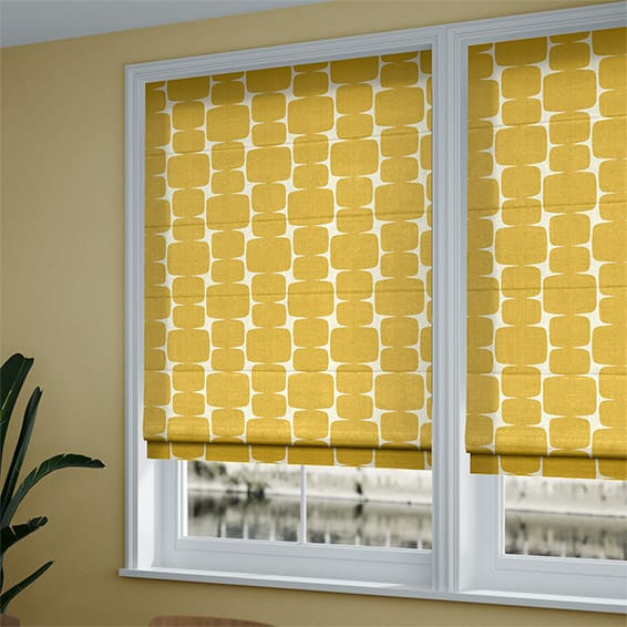 White Roman Shades Blackout