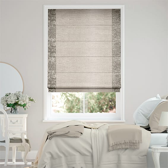 Luxe Faux Silk Crush Bronze Roman Blind