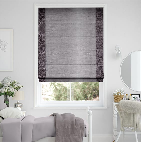 Luxe Faux Silk Crush Lilac Roman Blind