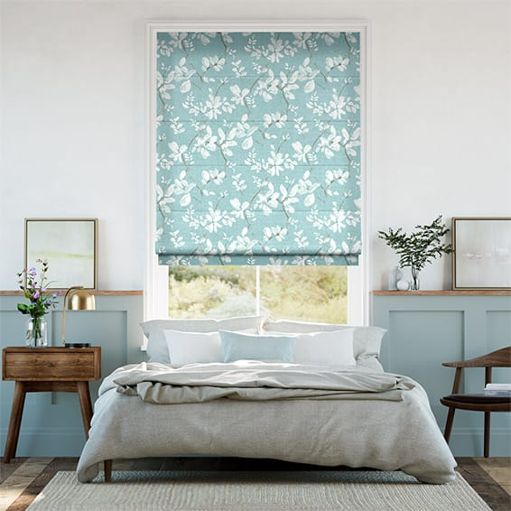 Madelyn Linen Duck Egg Roman Blind