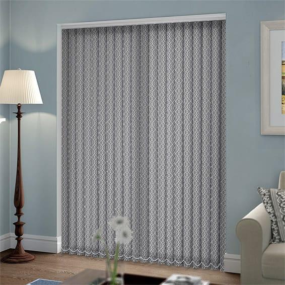 Malta Cinder Grey Vertical Blind