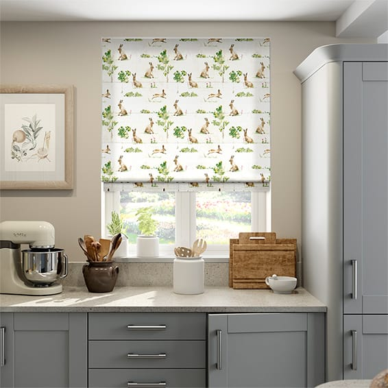 March Hares Country Roman Blind