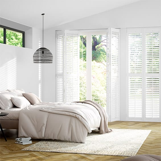 Plantation Shutters Mayfair Brilliant White Blinds 2go
