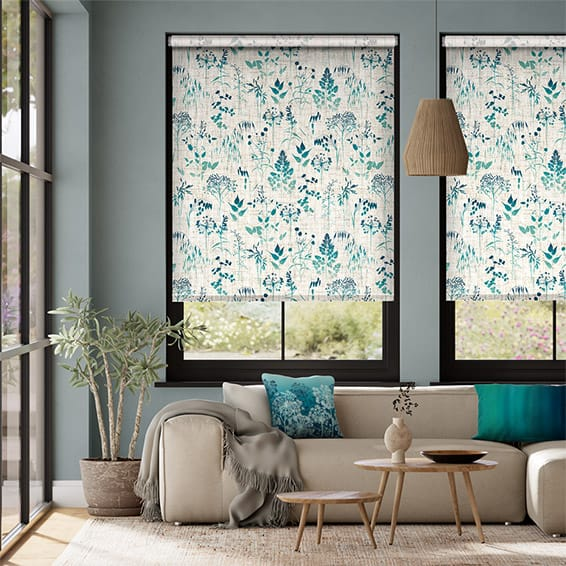 Meadow Teal Roller Blind