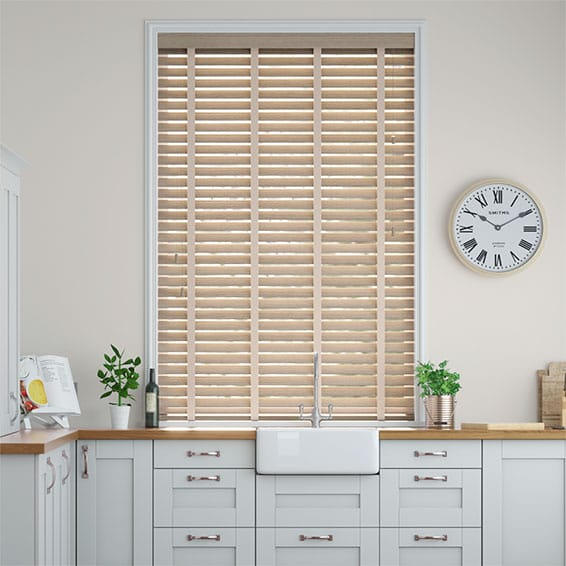 Metropolitan Aspen & Mercury Wooden Blind - 50mm Slat