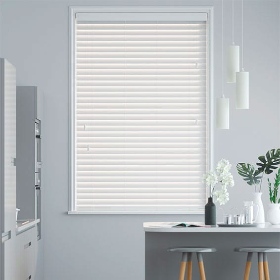 Metropolitan Snow Wooden Blind - 50mm Slat