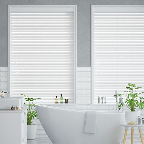 Metropolitan Soft Gloss White Wooden Blind - 50mm Slat