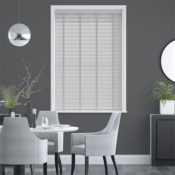 Metropolitan Thunder Grey & Stone Wooden Blind - 50mm Slat