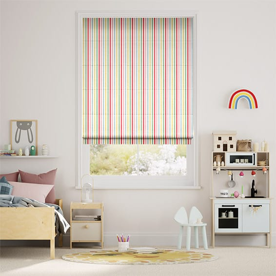Mid Stripe Candy Roman Blind