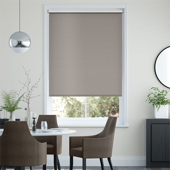 Midas Metallic Earth Blackout Roller Blind