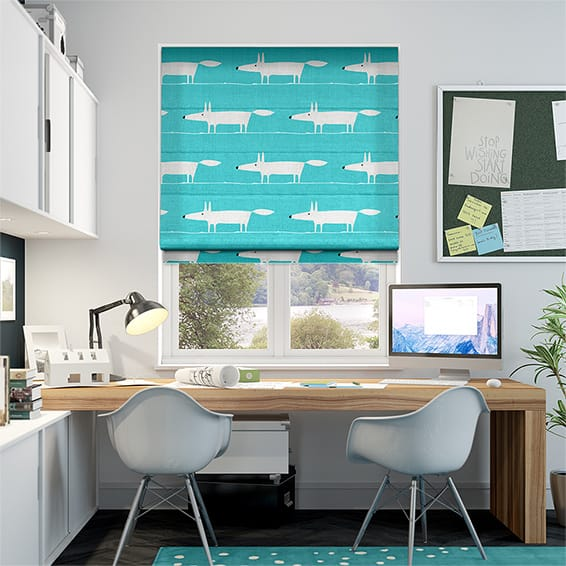 Mr Fox Mini Aqua Roman Blind
