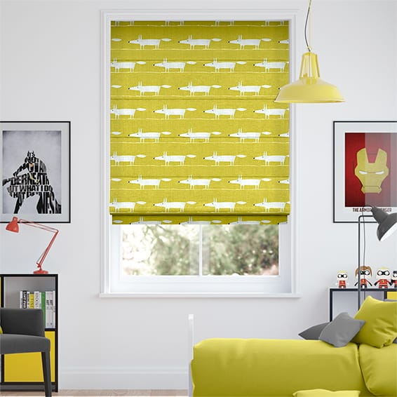 Mr Fox Mini Lime Roman Blind