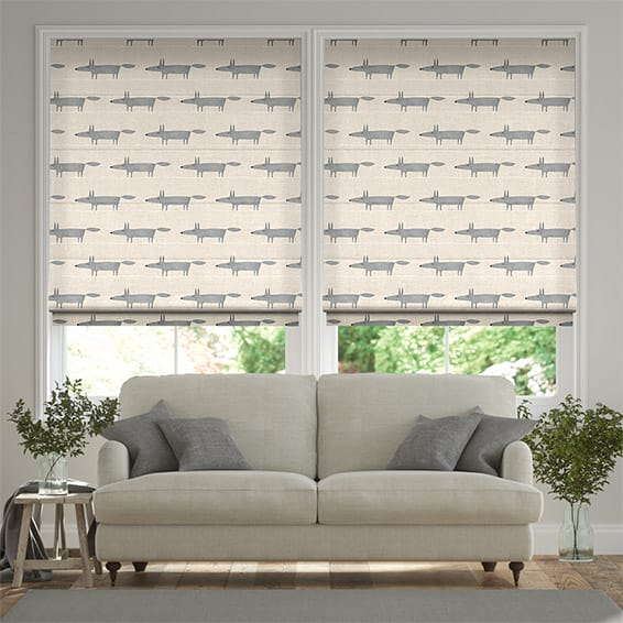 Mr Fox Mini Neutral Roman Blind