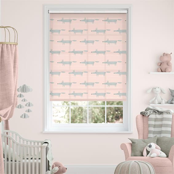Mr Fox Mini Rose Roller Blind