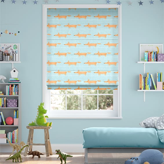 Mr Fox Mini Sky Roman Blind