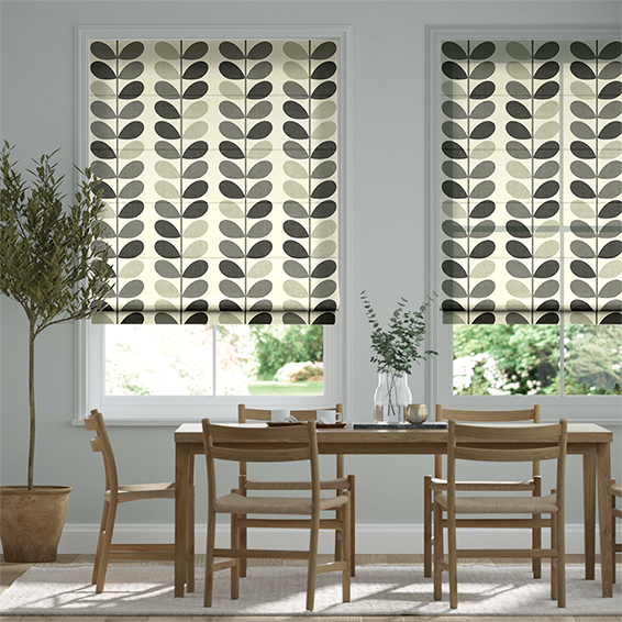 Multi Stem Warm Grey Roman Blind