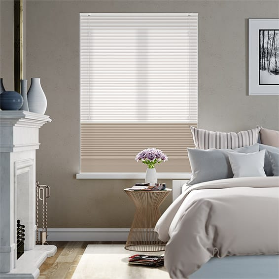 Night & Day Duo Hickory Pleated Blind