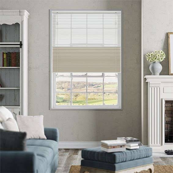 Night & Day Duo Pale Beige Pleated Blind