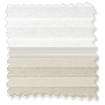 Night & Day Duo Pale Beige Pleated Blind slat image